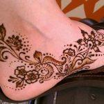 Mehndi design for ankle