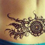 Mehndi design for lower back