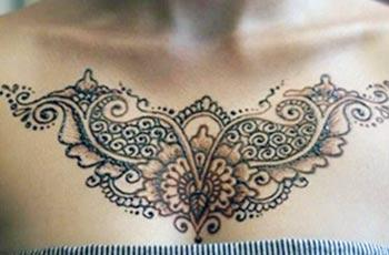 Mehndi Design for Chest