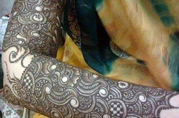 mehndi design for full arm