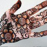 Mehndi design for palm-palms