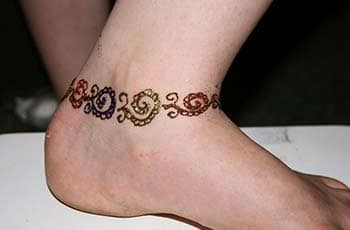 Mehandi design for ankle
