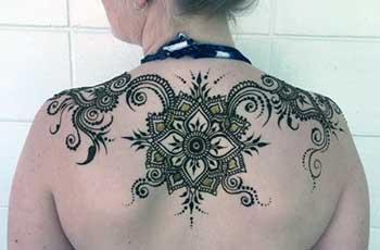 Mehndi Designs for back