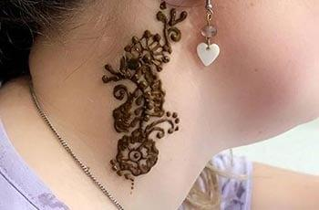 Mehndi Designs for neck