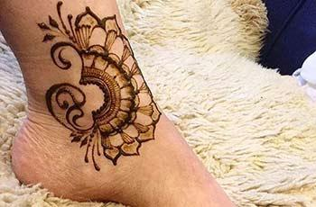 Mehndi Designs for Ankle