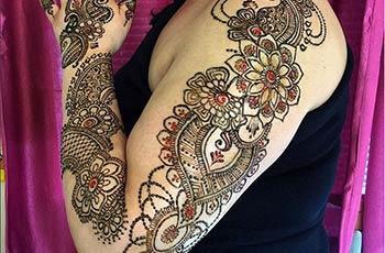 Mehndi Design for full Arm