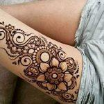 Mehndi Designs for Thigh