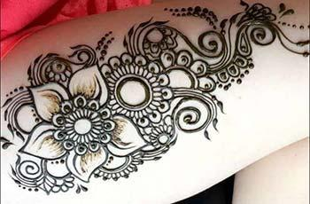 Mehandi Designs for Thighs